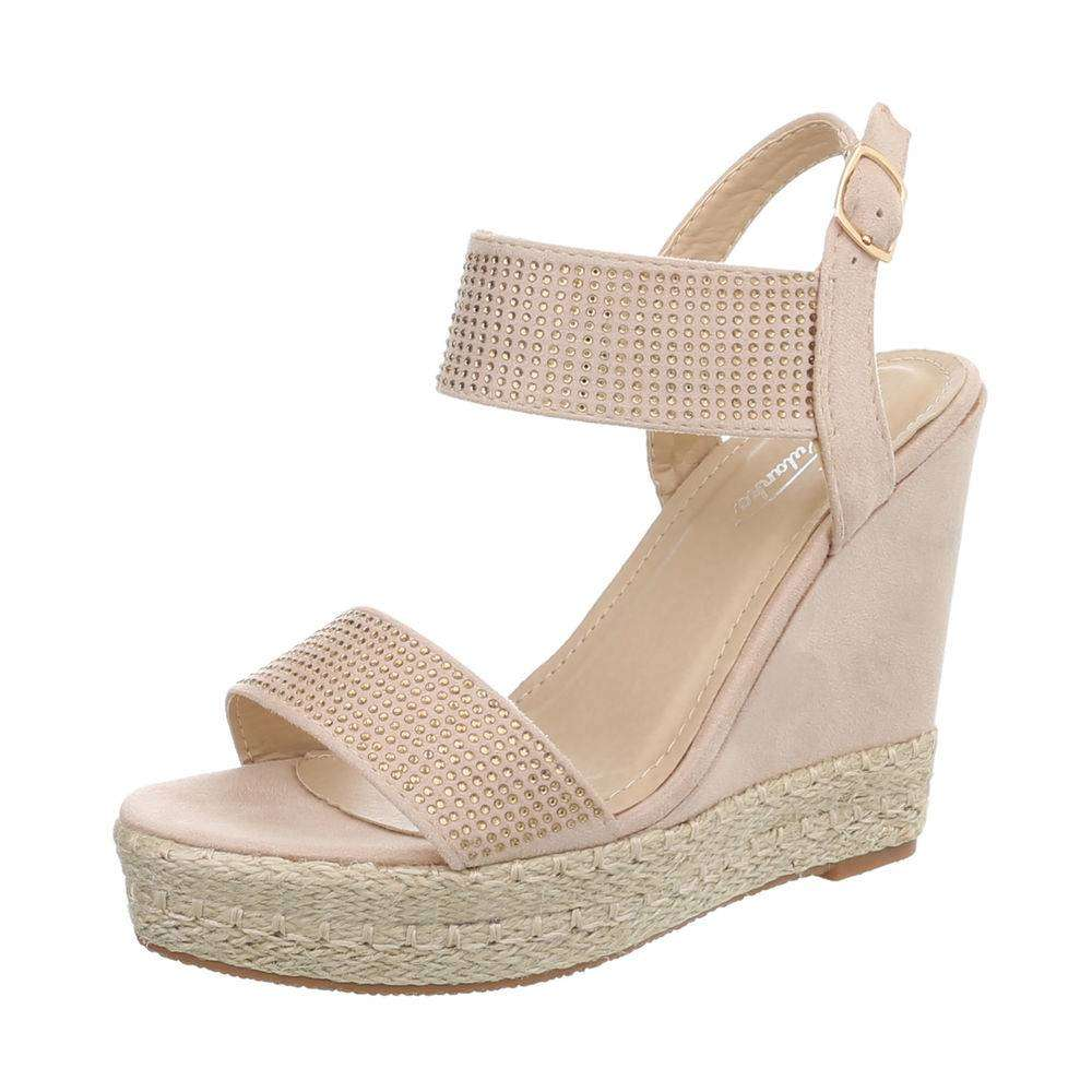 f3c369fb6c617 Dámske sandále na platforme TOP-3811-7-beige empty