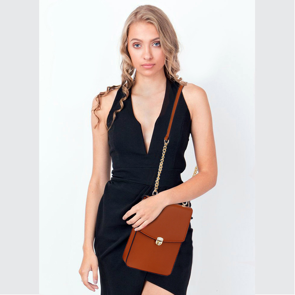 Trendy crossbody kabelka AG00586-brown