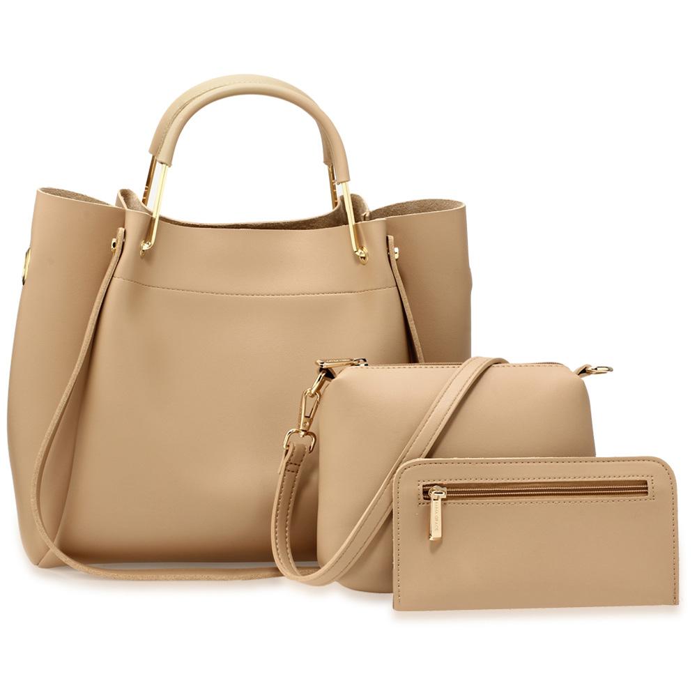 Dámska kabelka do ruky 3v1 AG00610-nude nude 54fdf8ce38a