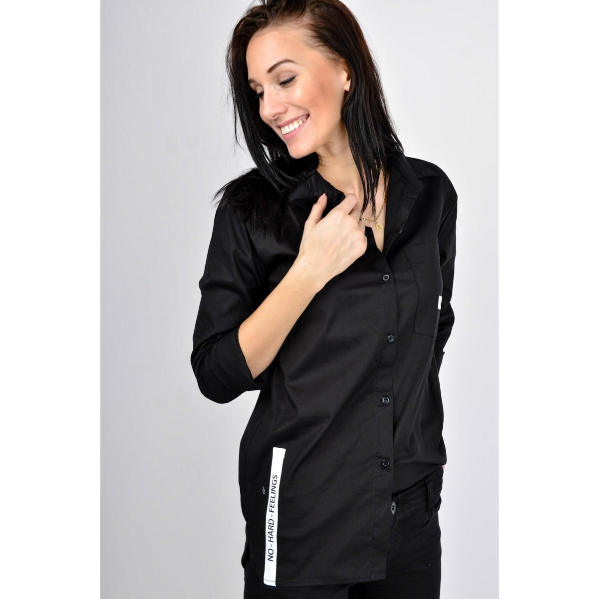 897170b5f964 Čierna dámska košeľa NK-84904-black