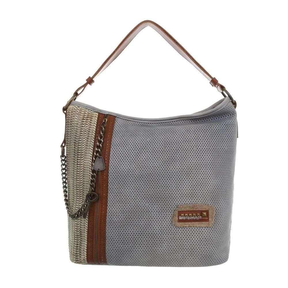 91879b7a06 Modro-sivá dámska kabelka na rameno VSGL-TA-4135-158-grey
