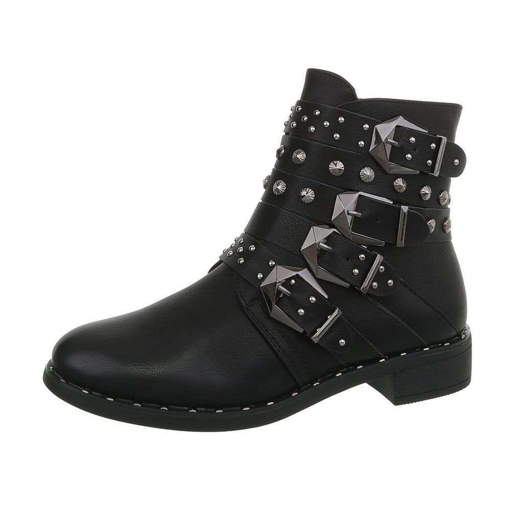 d117c9848d Vybíjané bikerske topánky s prackami TOP-QQ606-black empty