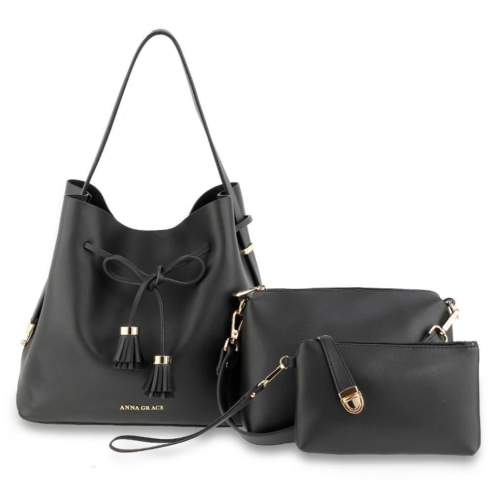 775ea10283da Kombinovaná kabelka 3v1 AG00656-black
