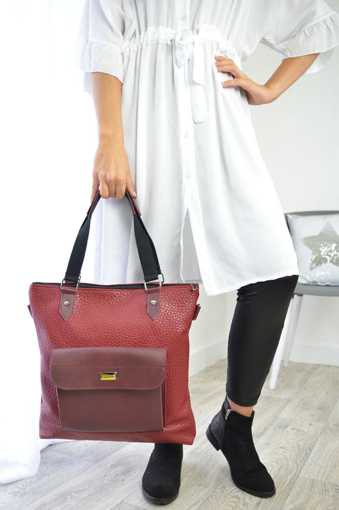 Štýlová dámska kabelka Carla Berry CB-MS61-A-red 42ee6e3cdc2