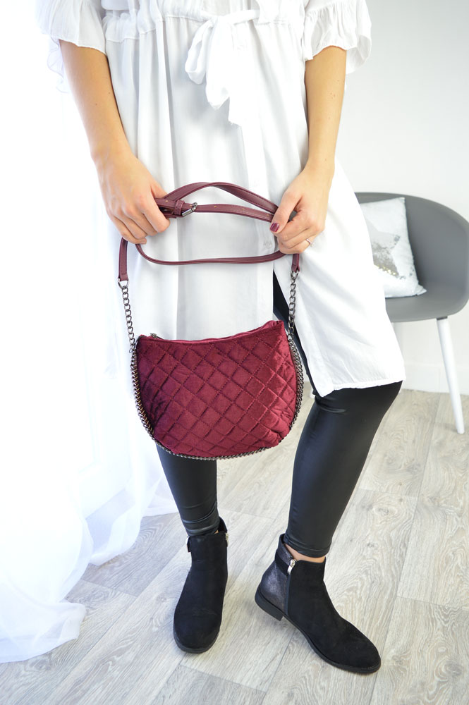Trendy crossbody kabelka WE-PB-207-red
