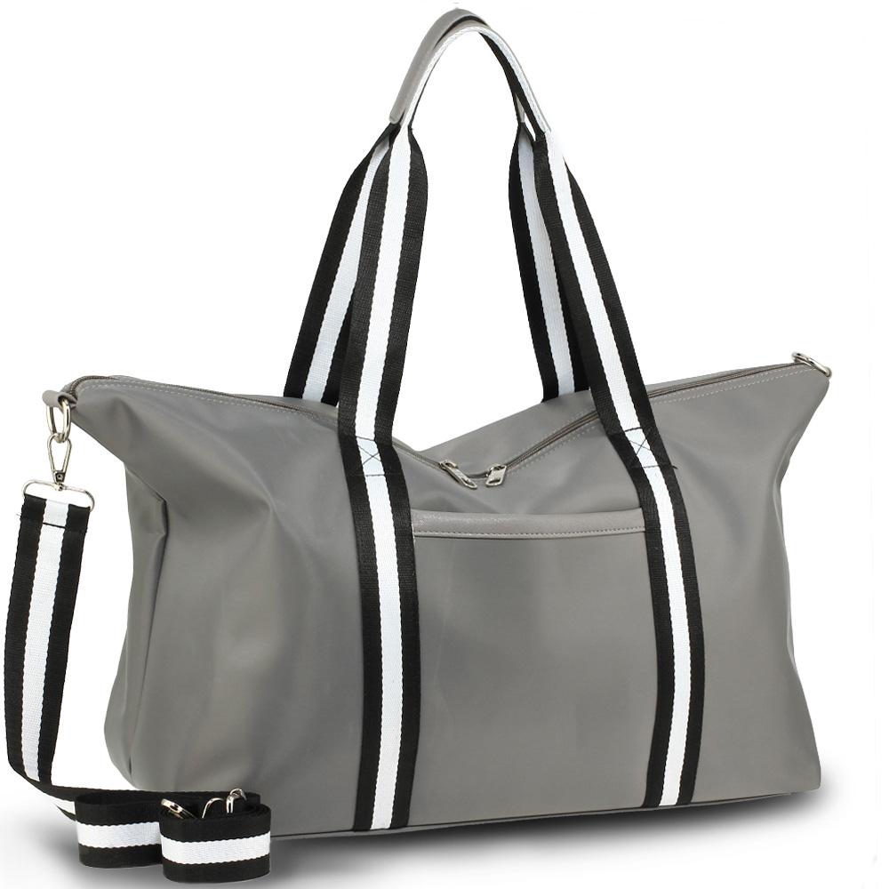 99bc8d5f2e Sivá cestovná taška AGT0021-grey