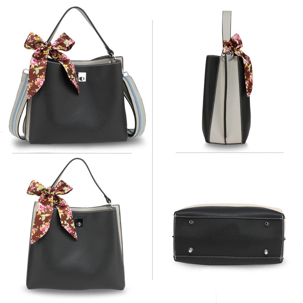 8fdfeeadf Trendy kabelka so šatkou AG00682-black/grey