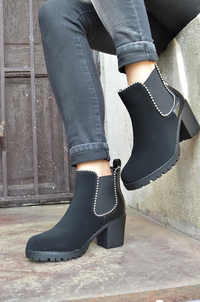 20e4cf8e2 Členkové topánky na opätku TOP-W357-black