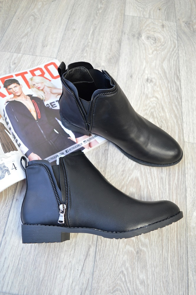 14670a1d1a Členkové topánky so zipsom TOP-L1220-black