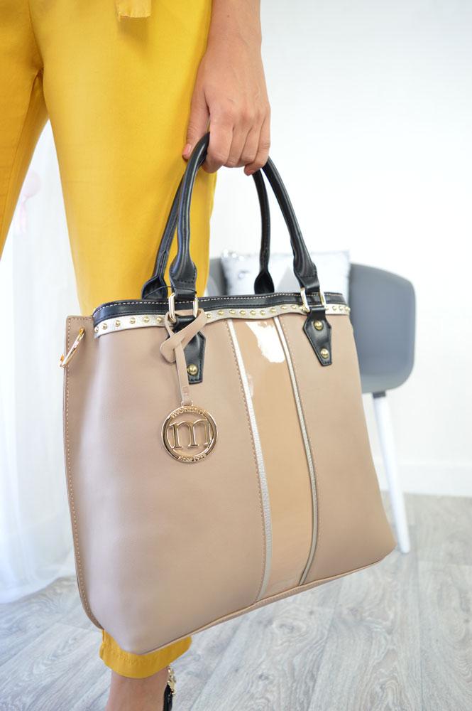 Kombinovaná kabelka do ruky Monnari MON-8600-015-beige empty 984a7d1e362