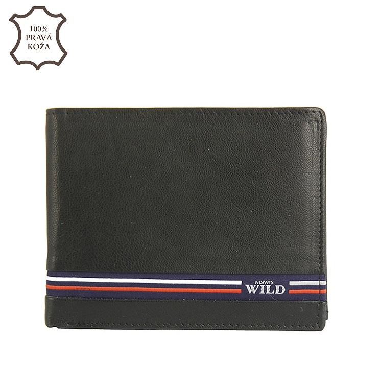 Čierna pánska kožená peňaženka Wild N992-GV-black 750f3ed4d74