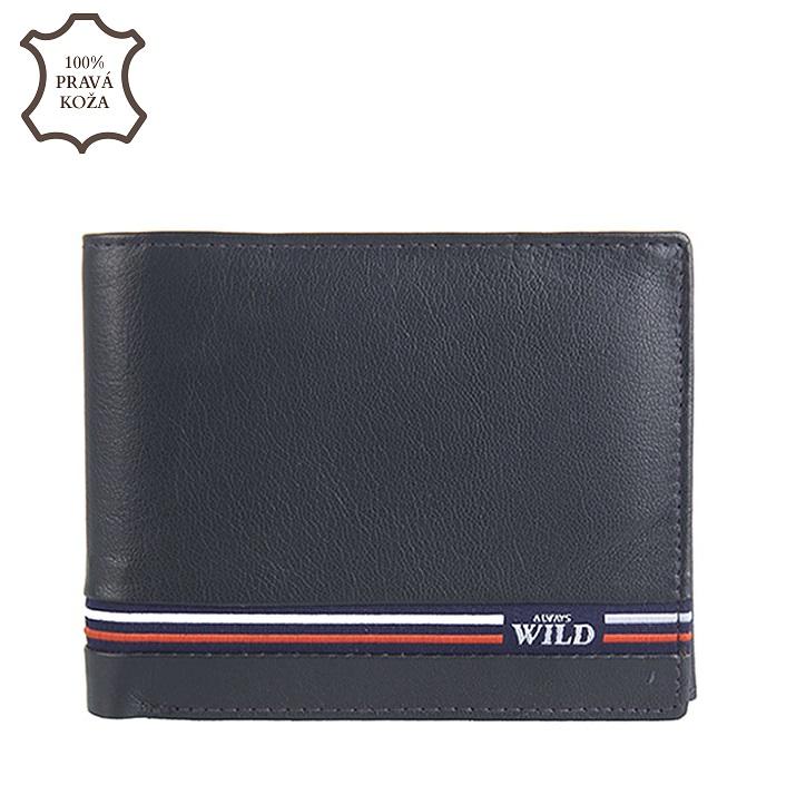 Modrá pánska kožená peňaženka Wild N992-GV-blue 0e94721cf83