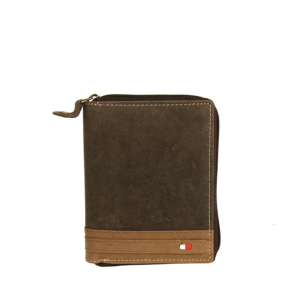 09b027b21 Hnedá pánska kožená peňaženka Wild N4Z-R-brown/tan