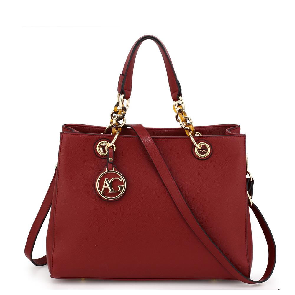 Elegantná kabelka do ruky AG00536A-burgundy 432421dce58