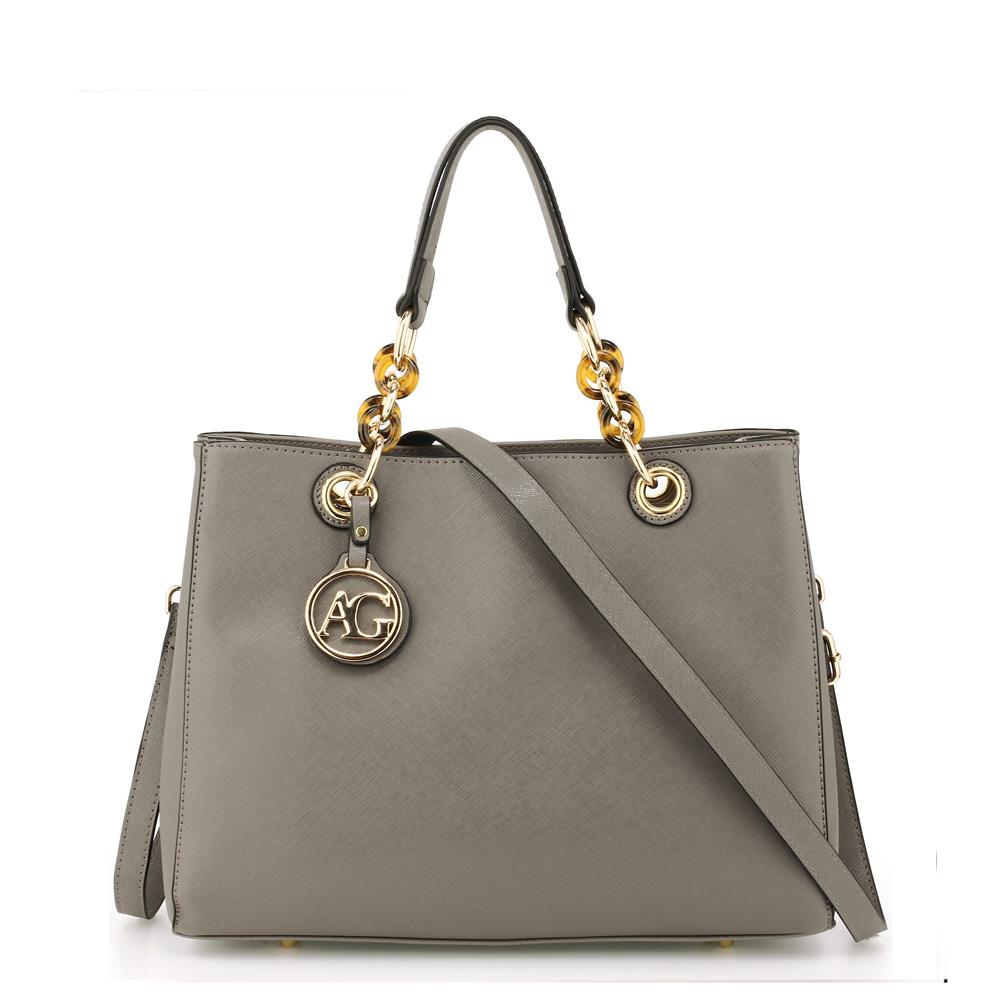 Elegantná kabelka do ruky AG00536A-grey 49f60a18b7f