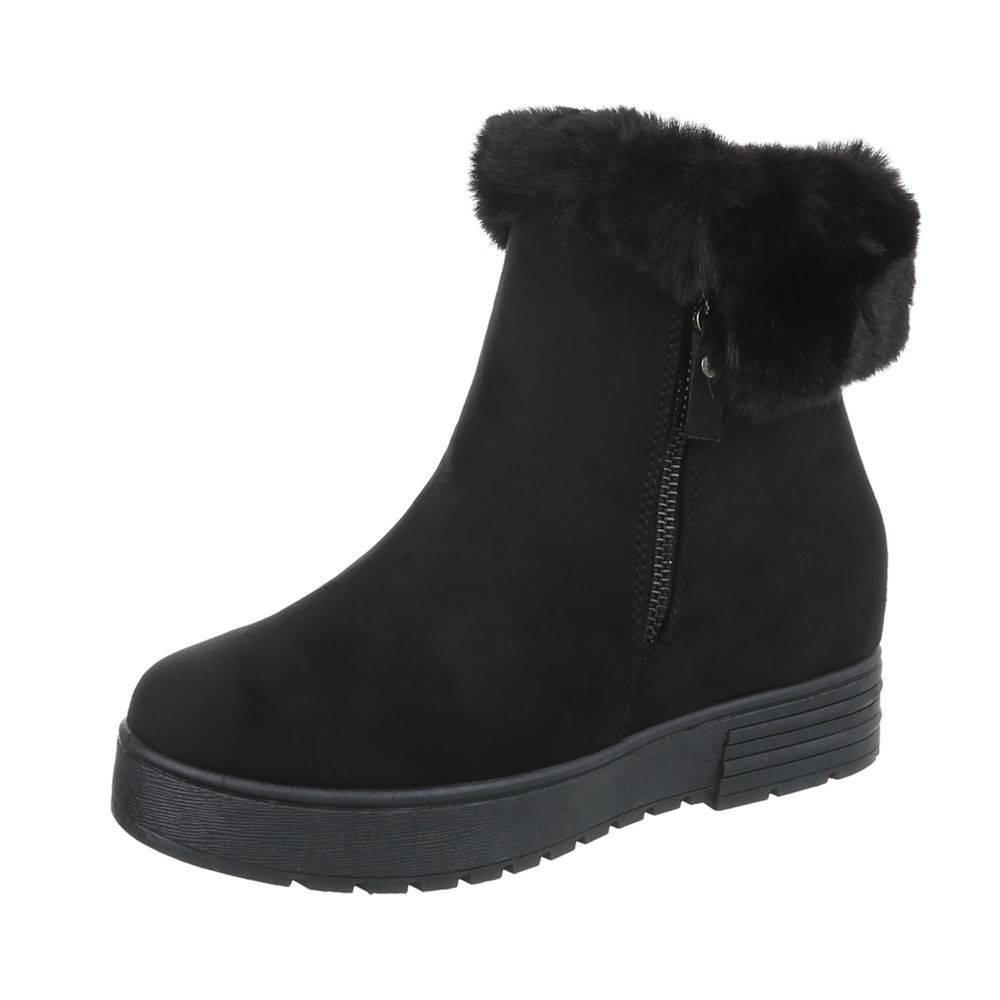 852da820a48db Teplé členkové topánky TOP-A-173-black