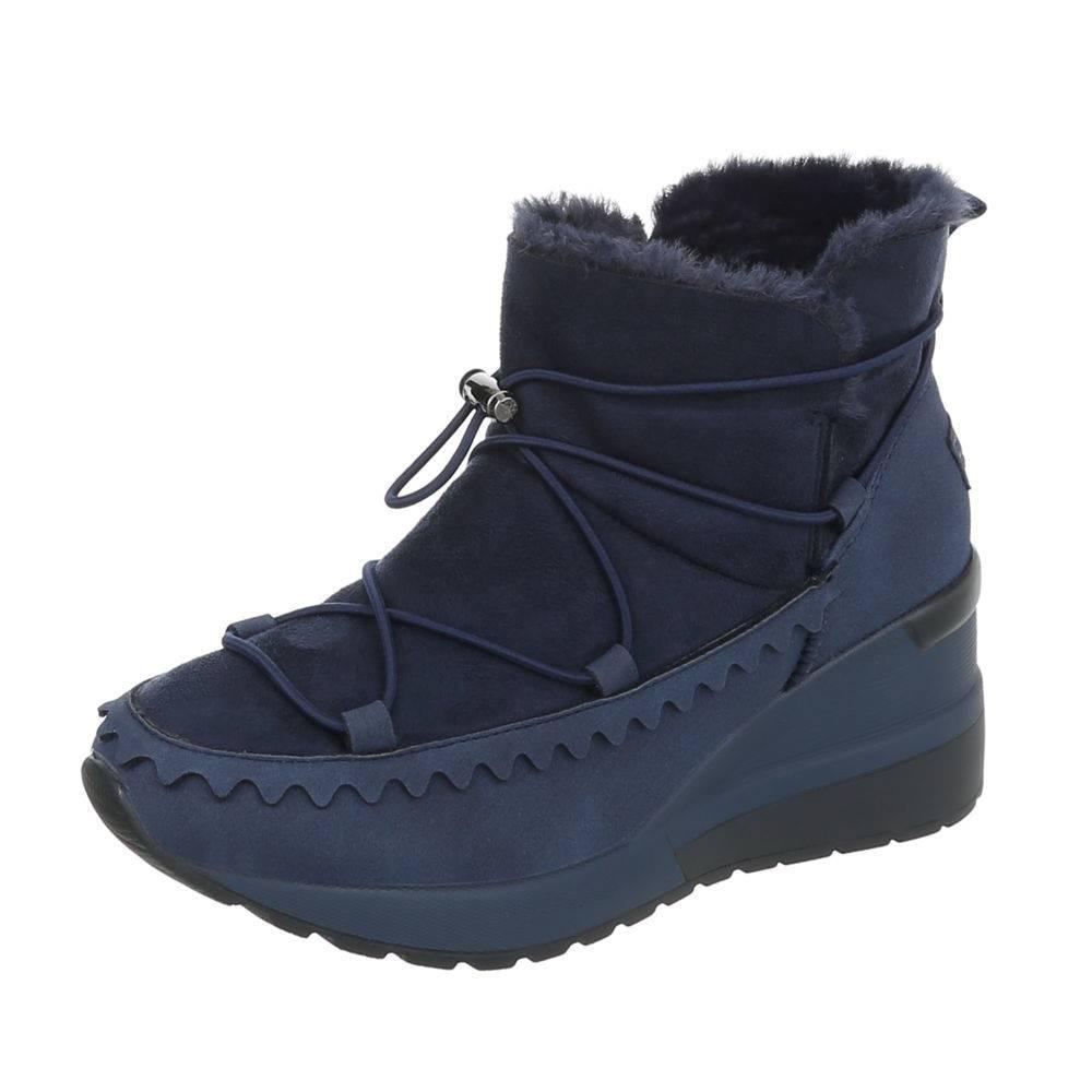 Zateplené nízke snehule TOP-5262-blue ff18cf5fbb3