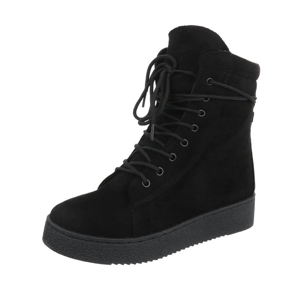 Štýlové topánky na zimu TOP-BB2027-KB-black db36262b61