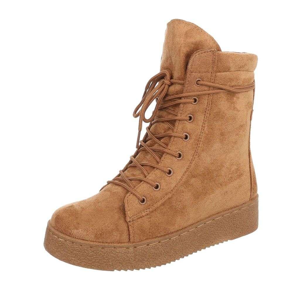 Štýlové topánky na zimu TOP-BB2027-KB-camel 1dcf2300d41