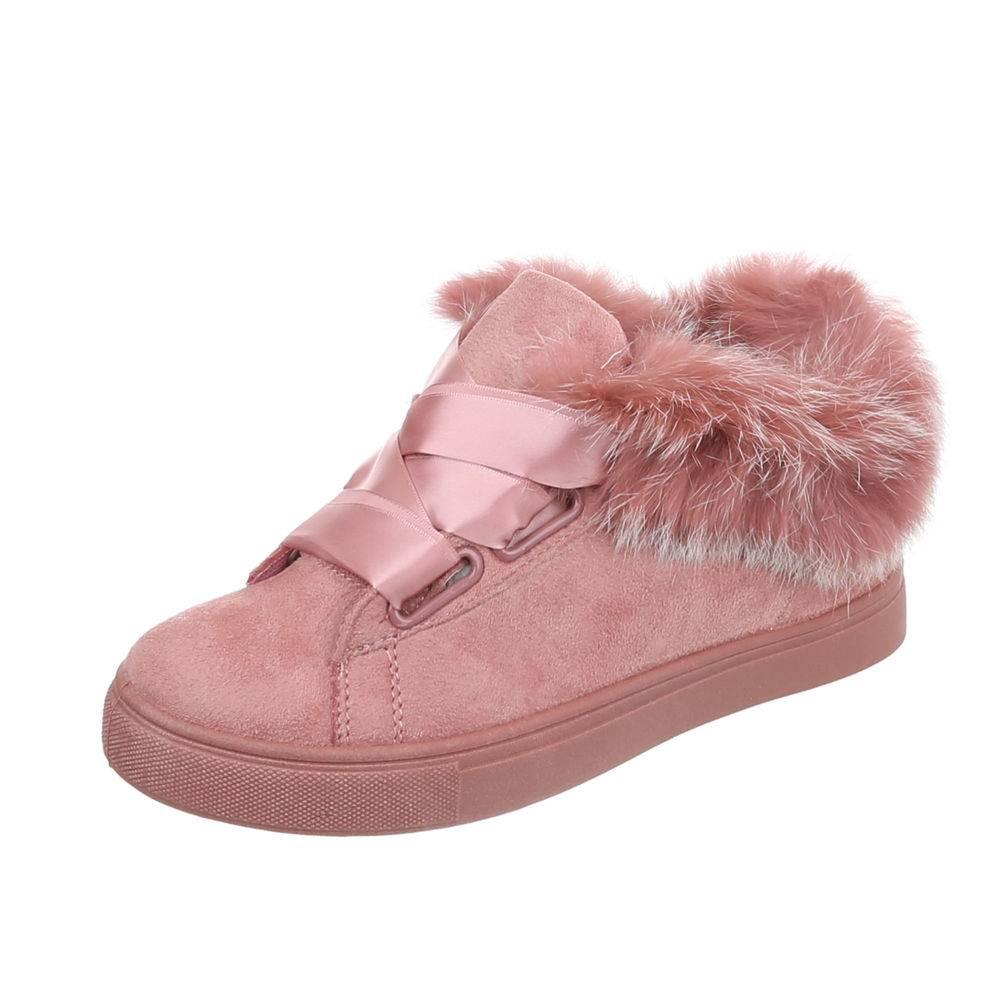 b2adf15c3eaa4 Tenisky s kožušinou TOP-FS-85-pink