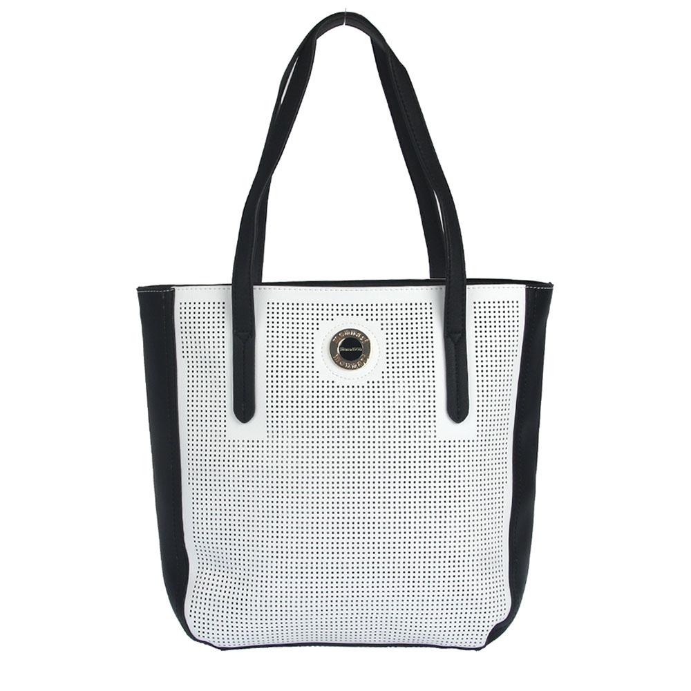 cb5ae0fc10 Čierno-biela kabelka na rameno MONNARI MON-0750-020-black