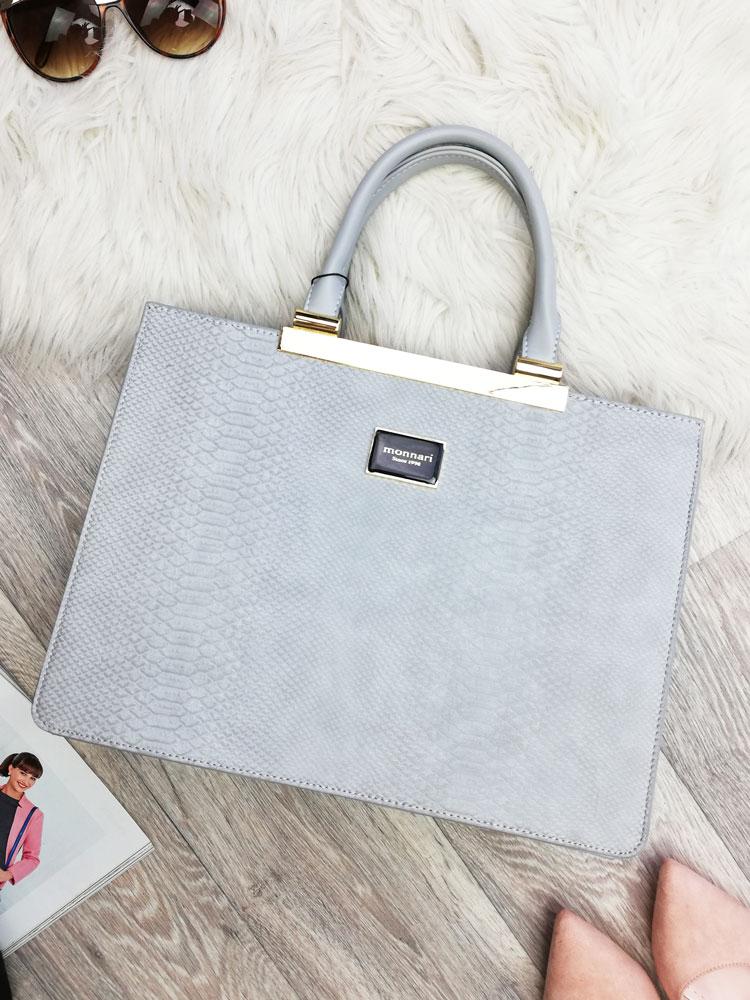 Biznis kabelka do ruky MONNARI MON-3000-019-grey empty 8bb49b684af