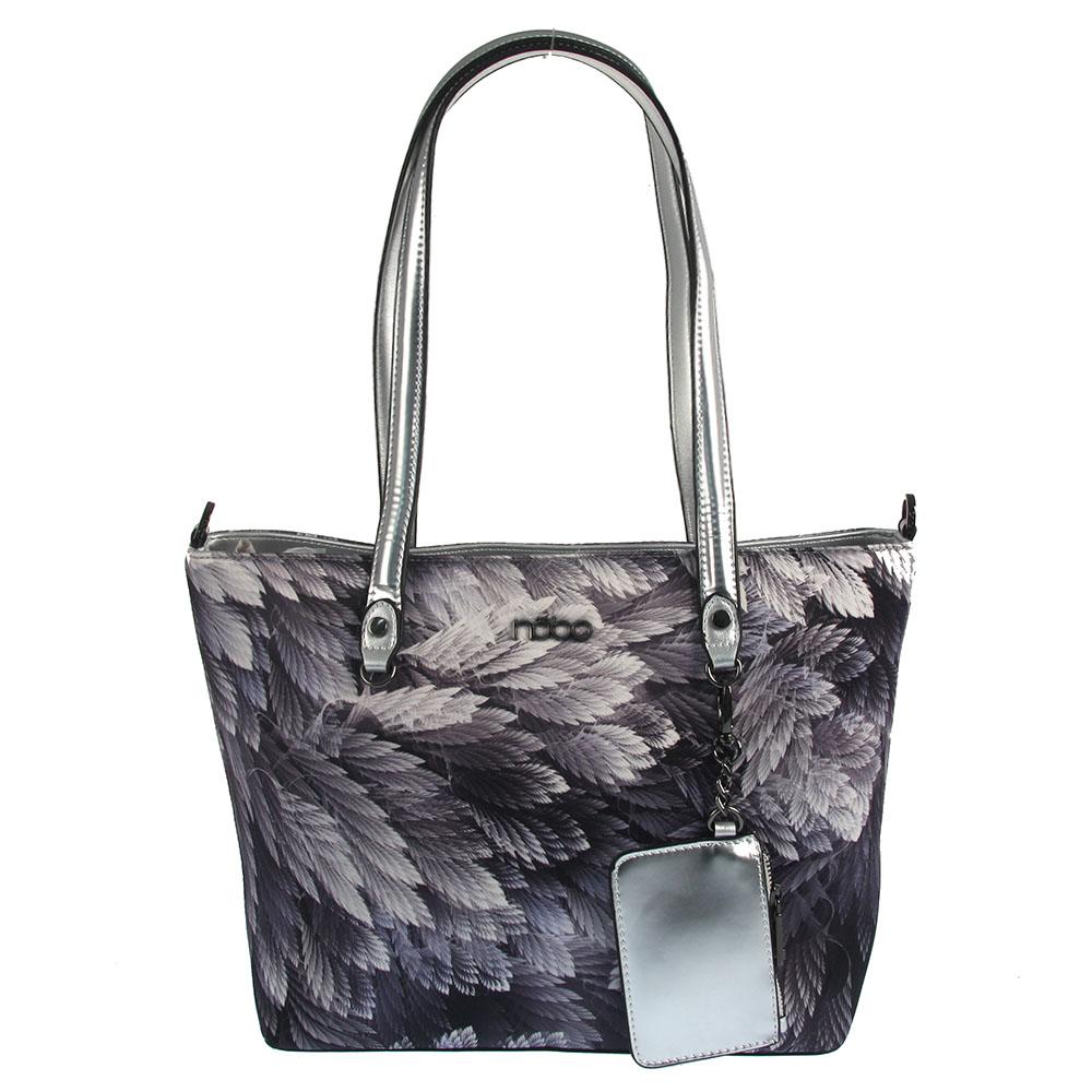 7470dde229 Vzorovaná kabelka na rameno NÓBO NBAG-G0691-C019-grey