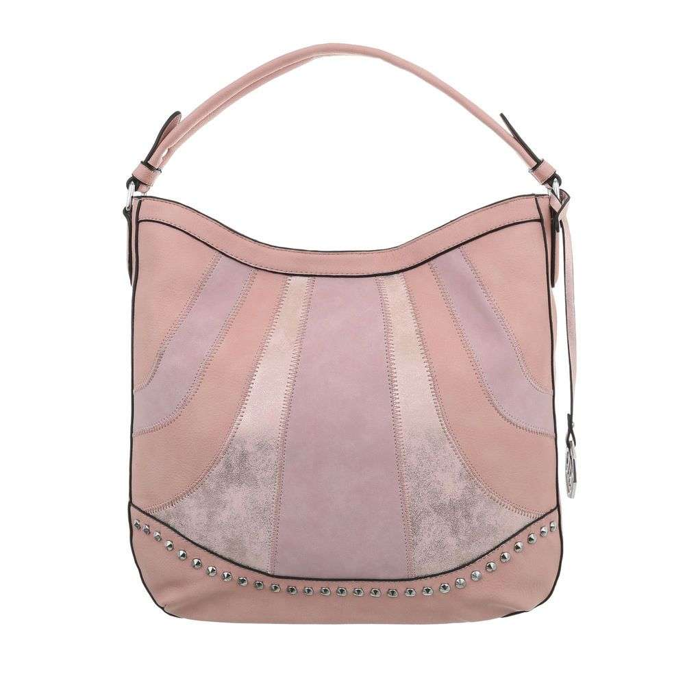 Ružová kombinovaná kabelka na rameno VSGL-TA-JQ8050-4-pink 9bb2261330b