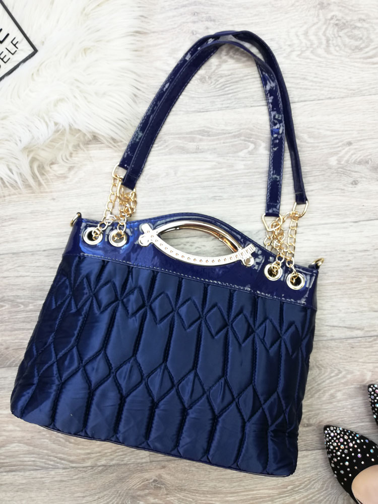 Luxusná kabelka do ruky aj na rameno DKA-VK5501-blue 67dbdfddfdd