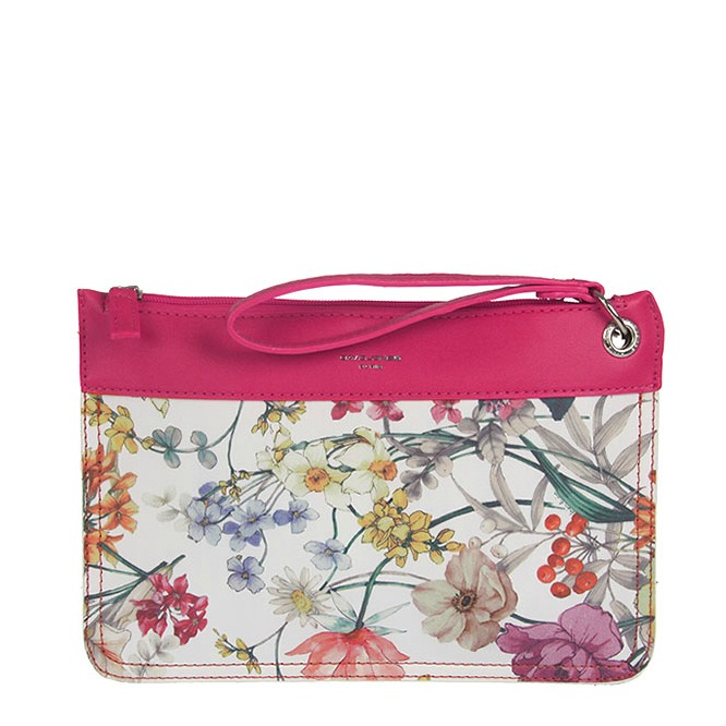 Kvetovaná crossbody listovka David Jones CM-5187-rose