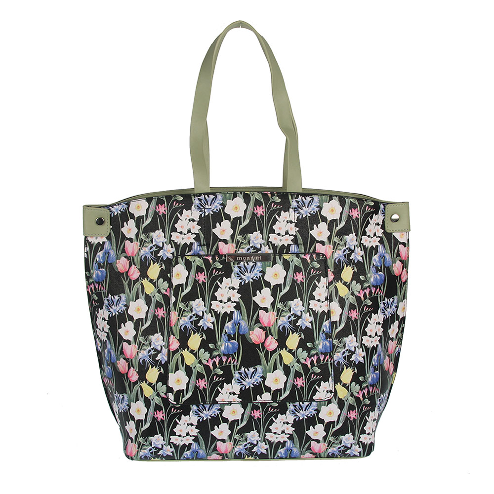 bdcb24353d Kvetovaná kabelka do ruky MONNARI MON-3500-black