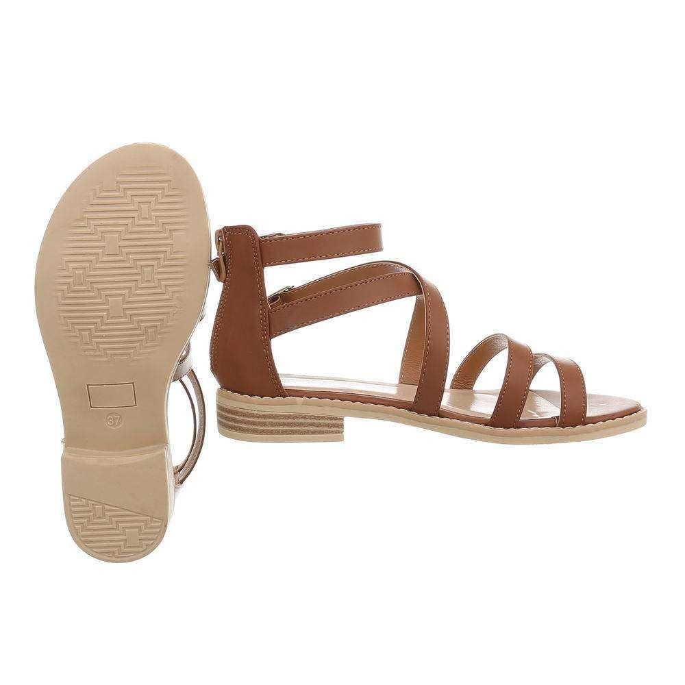 cd29e22ab837 Dámske letné sandále TOP-623-camel