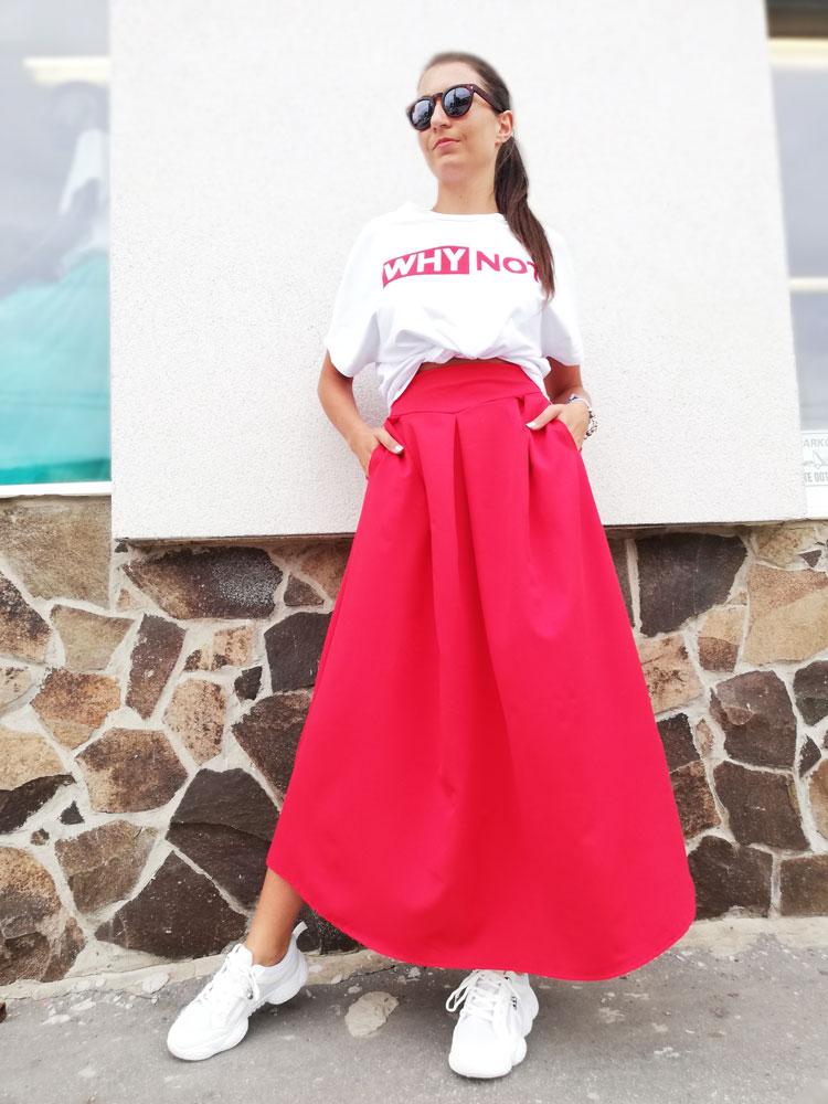 4598b9c89eef Dlhá dámska sukňa NK-LONGSKIRT-red