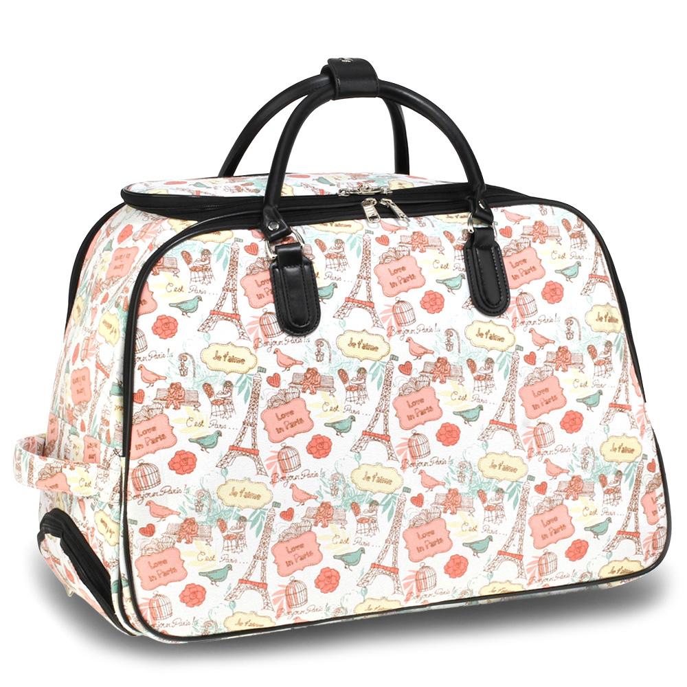852bcec2dd9f8 Cestovná taška PARIS AGT1011A-pink/white