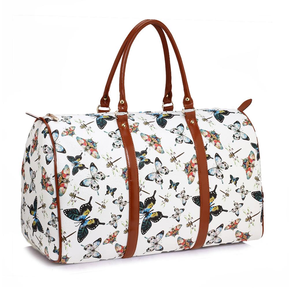 2bb7606d3367f Cestovná taška BUTTERFLY AG00479A-white