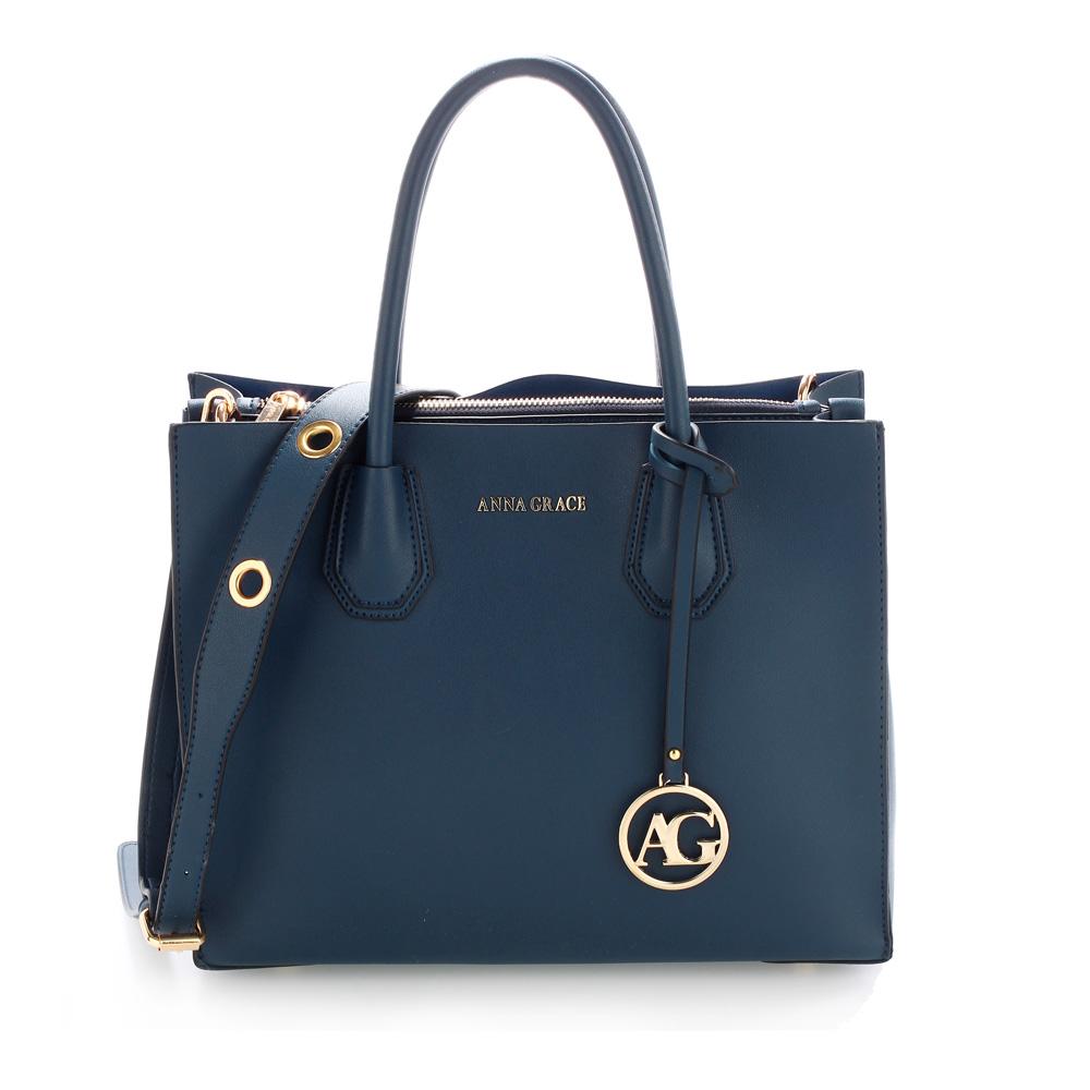 99b165ad7a708 Elegantná kabelka do ruky AG00559-navy