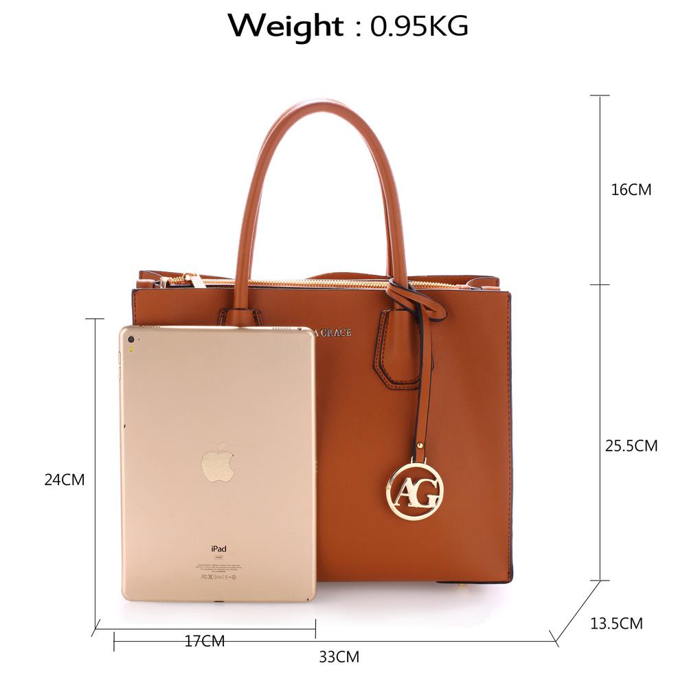 718e11f1de4b6 Elegantná kabelka do ruky AG00559-brown