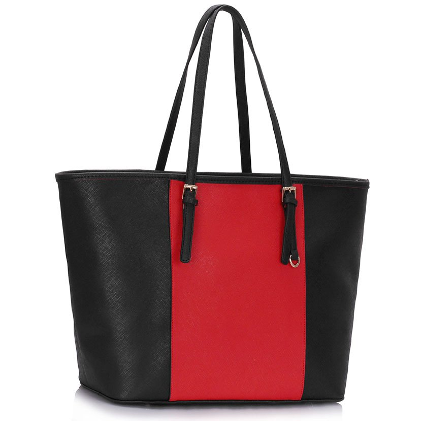 Shopperka na rameno DK00297A-black/red