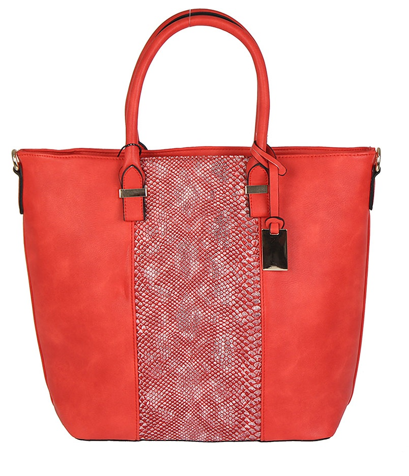 Elegantný shopper LUXURY WE90357-red
