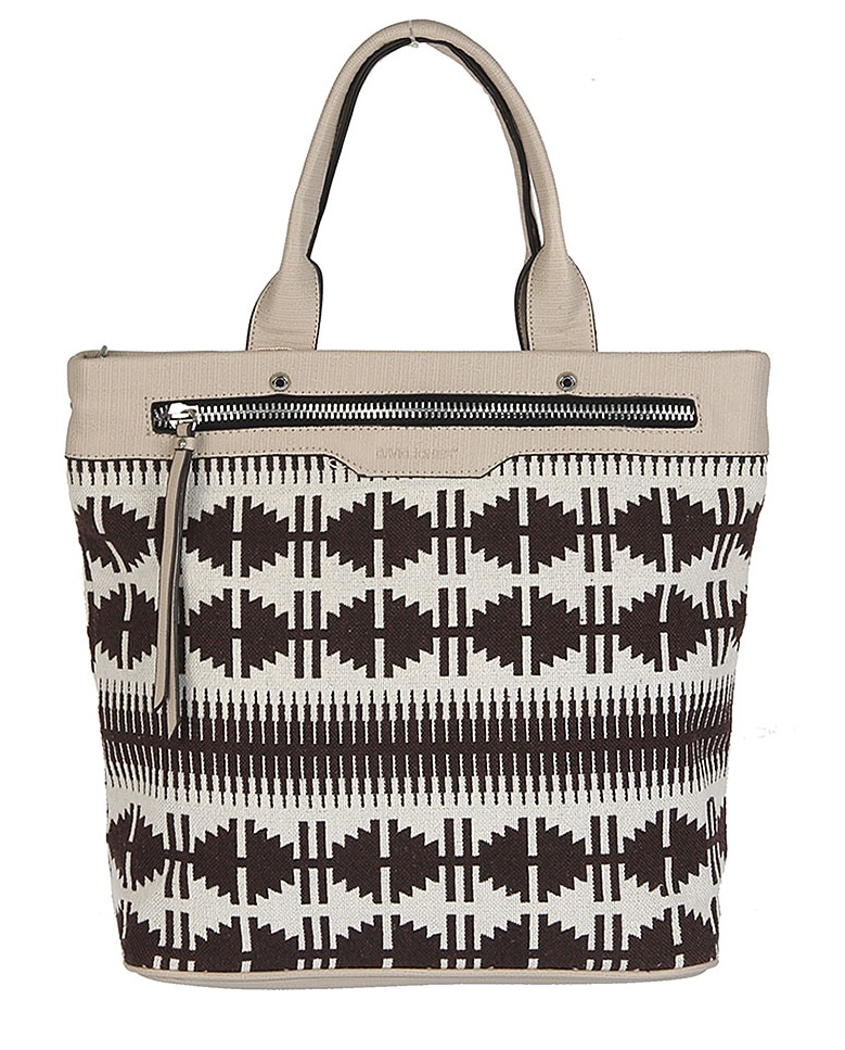 Vzorovaný shopper David Jones CM5036-4-brown