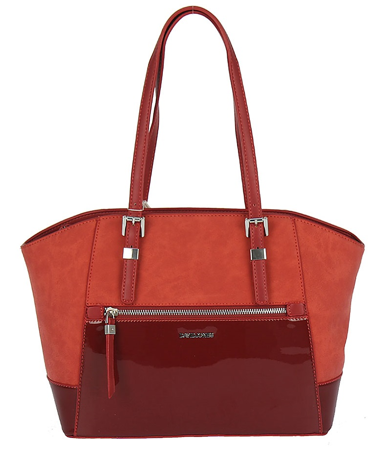 Elegantná kabelka na rameno David Jones CM5211-6-red