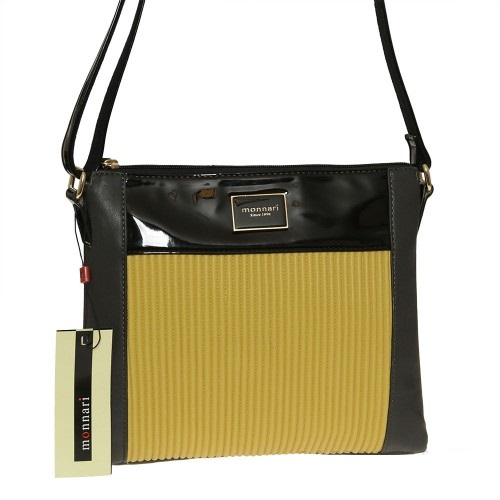Luxusná crossbody MONNARI MON8670-yellow/black