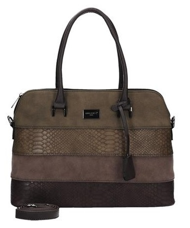 Elegantná kabelka do ruky David Jones CM5256-1-d.brown + crossbody ZDARMA!
