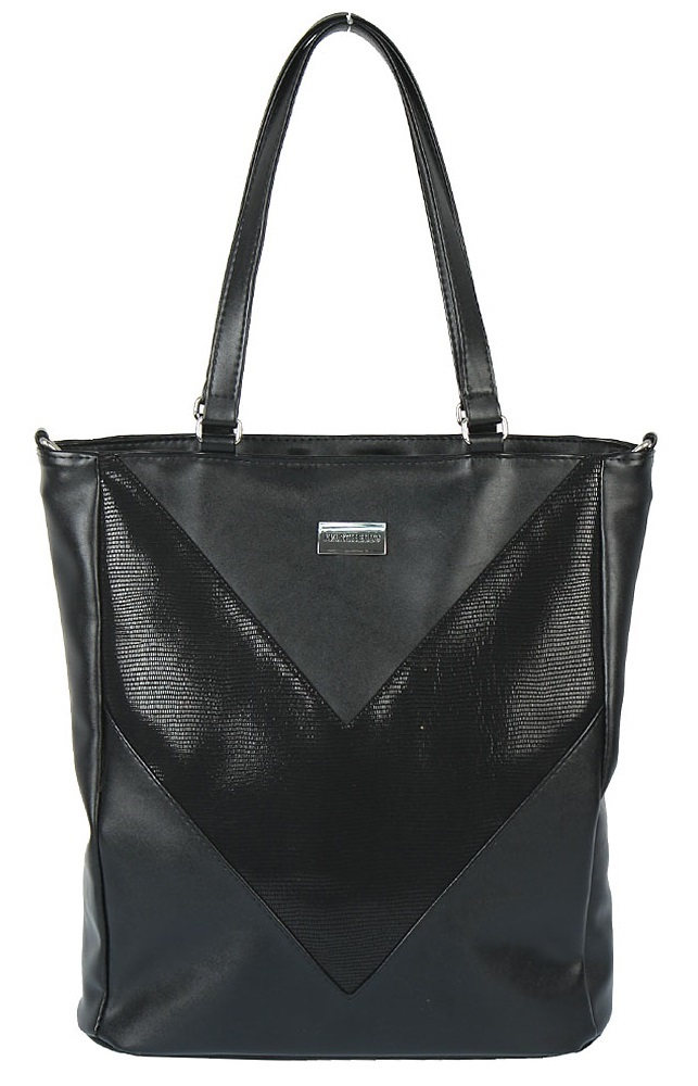 Čierny shopper MARCHELLO HU-M-L733-black + crossbody ZDARMA!