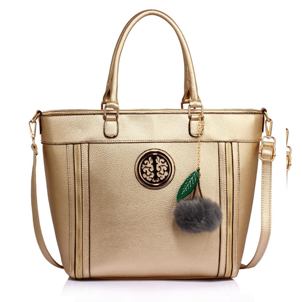 Zlatá kabelka do ruky DK00404-gold b14bfd09d60
