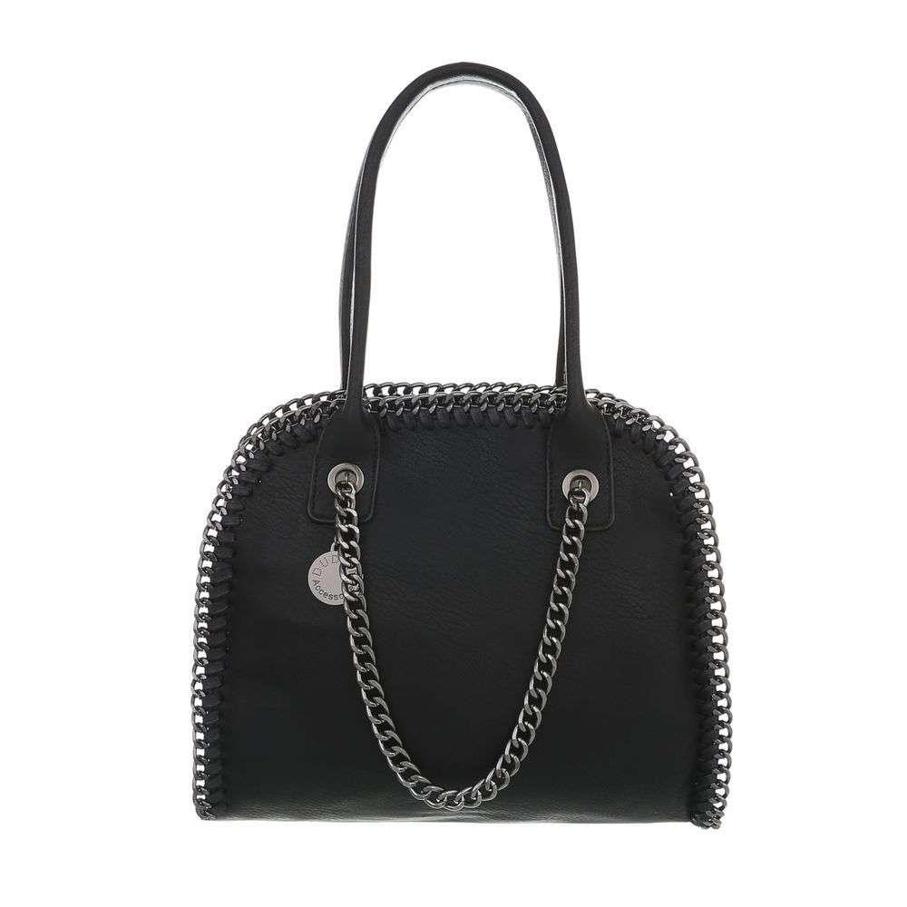 Čierna dámska kabelka s retiazkou VSGL-TA-3140-34B-black ab165fb91f8