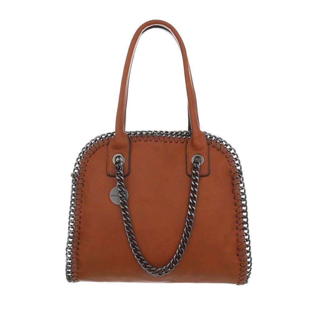 Hnedá dámska kabelka s retiazkou VSGL-TA-3140-34B-cuoio 7837bf639d7