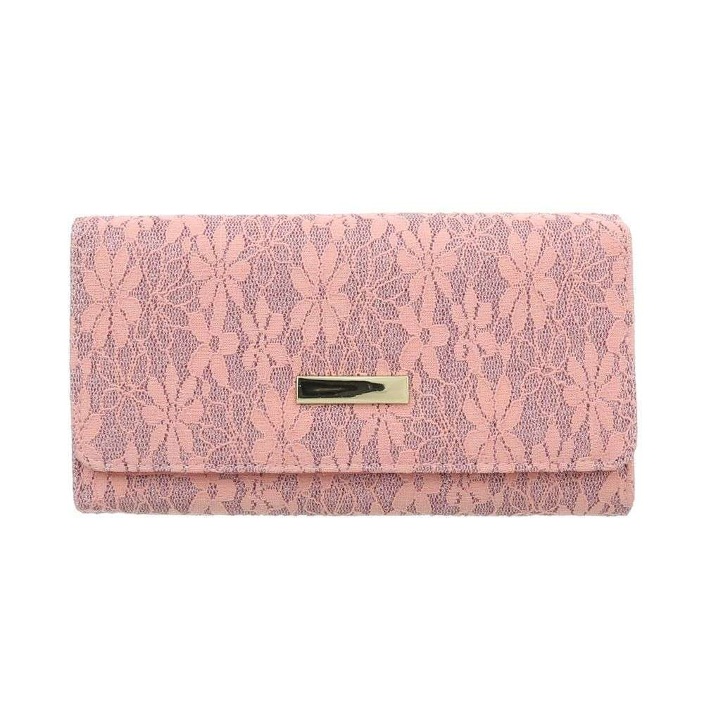 1baec7c1c9 Ružová kvietkovaná peňaženka VSGL-GB-XD152-pink