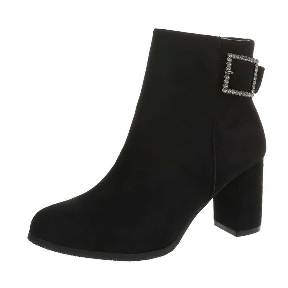 fa388d556 Členkové topánky na opätku TOP-BL016-black