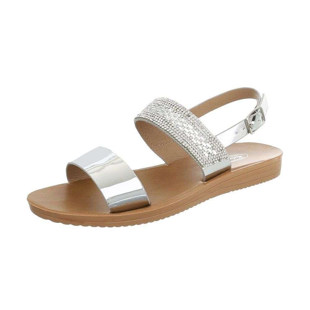 de8b77f9d2bc Dámske sandále s kamienkami TOP-D-27-silver